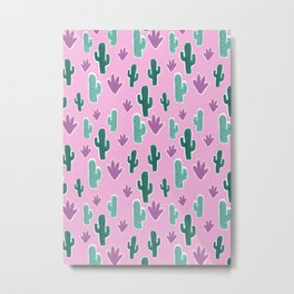 Candy Desert #society6 #cacti Metal Print