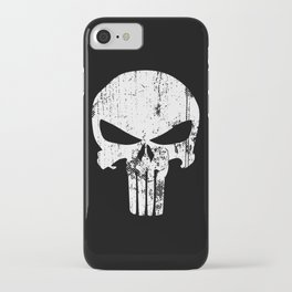 The Punisher Logo Black Background iPhone Case