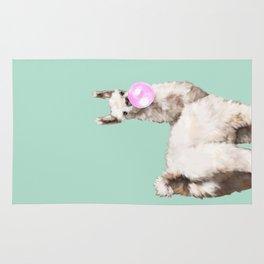 Baby Llama Blowing Bubble Gum Rug