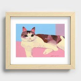Cat healed Recessed Framed Print