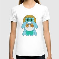 tina T-shirts featuring Tina Tanuki by Sonya Saturday