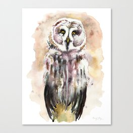 Gary The Great Gray Owl Canvas Print