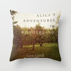 Alice's Adventures In Wonderland Throw Pillow