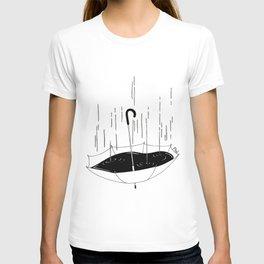 Bisognerebbe fare come il mare che gli piove dentro e poco gli importa T-shirt