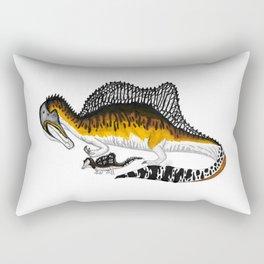 Spinosaurus mother and juvenile Rectangular Pillow