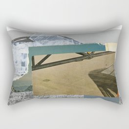 Untitled / Paper collage & Acrylic / 2014 Rectangular Pillow