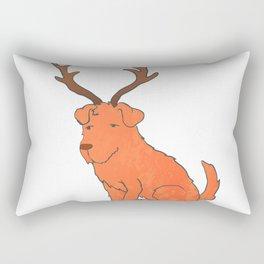 dog with antler Rectangular Pillow