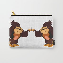 Monkeys High Five Carry-All Pouch