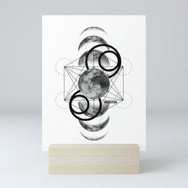Geometric Moon 2 Royal Stain Mini Art Print