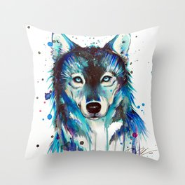 -Dark Wolf- Throw Pillow