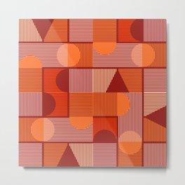 Geometrica Red Metal Print