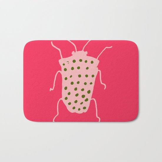 Arthropods hot pink Bath Mat