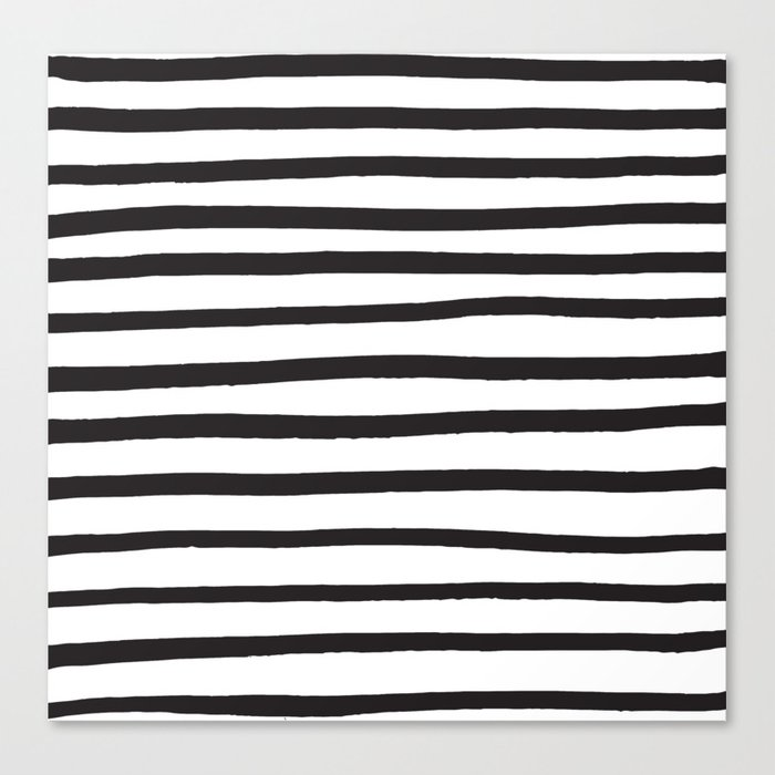 Black And White Marker Lines Canvas Print By Designer357