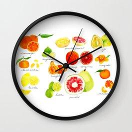 Citrus Wall Clock