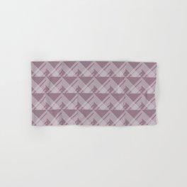 Modern Simple Geometric 5 in Musk Mauve Hand & Bath Towel