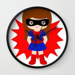 Superhero woman Wall Clock