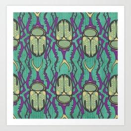 Purple Beetle  Art Print
