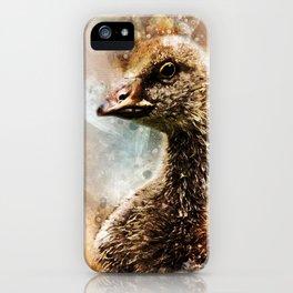 Watercolor Gosling Greylag Goose iPhone Case