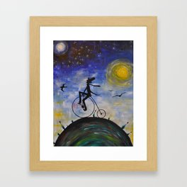Evening Bike Ride Framed Art Print