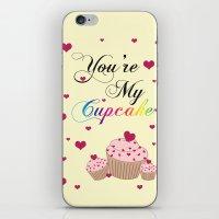 cupcake iPhone & iPod Skins featuring Cupcake by Melis Kalpakçıoğlu