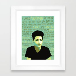 Denice Frohman. Framed Art Print