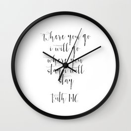Bible Verse ruth 1:6 Christian Quote Typography Wall Art Printable Art Bible Verse Printable ART Wall Clock