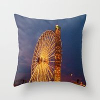 boardwalk empire Throw Pillows featuring Boardwalk by Julia Blanchette