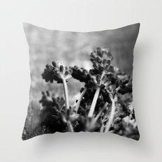 Lavender (Black & White) Throw Pillow