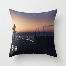 Rio de Janeiro Slum Sunset Throw Pillow