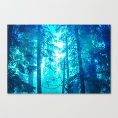 Nature Forest - Blue Frost Woods Canvas Print
