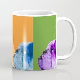 English Bulldog Pop Art portrait. Coffee Mug