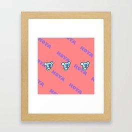 BTS RM BT21 Koya Framed Art Print