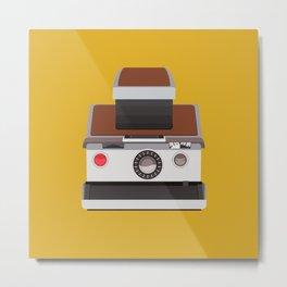 RetroPolaroid Camera Metal Print