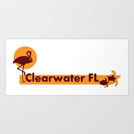 Clearwater Beach - Florida. Art Print