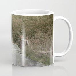 One Lane Bridge Misty Surreal Landscape Coffee Mug