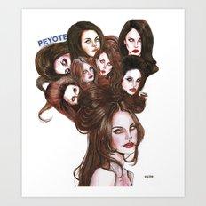 PEYOTE LDR  Art Print