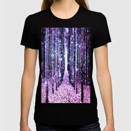 Magical Forest Path Lavender Pink Periwinkle T-shirt
