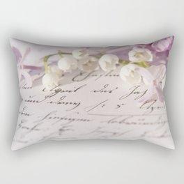 Loveletter - Springflower and old letter - Photography Rectangular Pillow