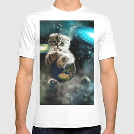 Space Puss saves the World T-shirt