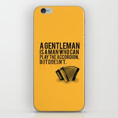 Definition of a Gentleman iPhone Skin
