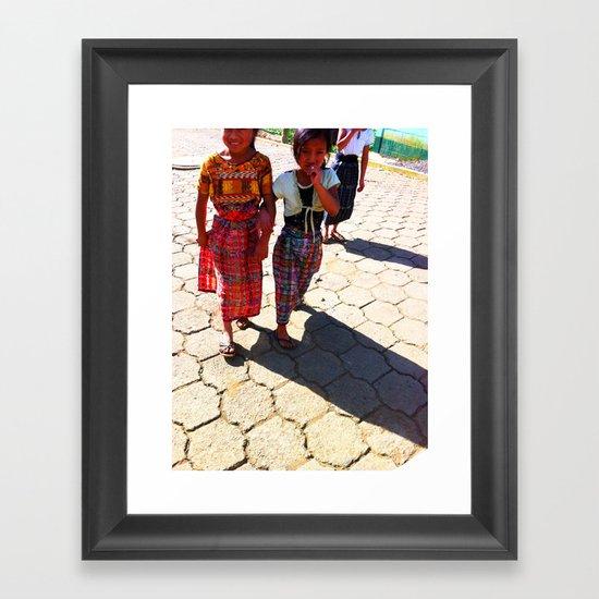 Guatemalan Streets Framed Art Print