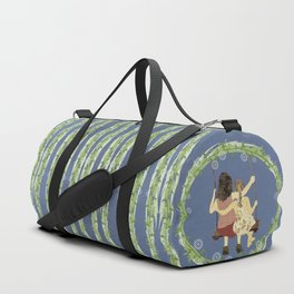 Sisters on swing Duffle Bag