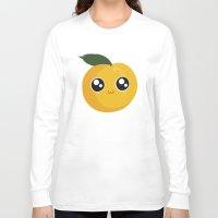 peach Long Sleeve T-shirts featuring Peach by GarethAdamson