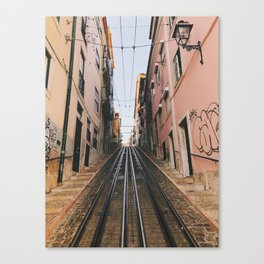 Lisbon Bica Funicular, Lisbon, Portugal Canvas Print