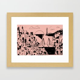 Holy City Heights Framed Art Print