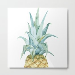Pineapple Topper Metal Print