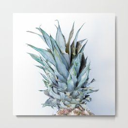 Ananas - Pineapple On A White Background #decor #society6 Metal Print