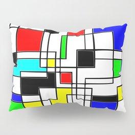 Homage to Piet Mondrian Pillow Sham