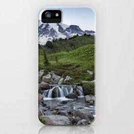 Edith Creek and Mount Rainier iPhone Case