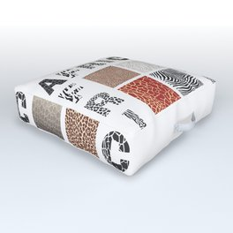 Africa - background with text and texture wild animal Outdoor Floor Cushion